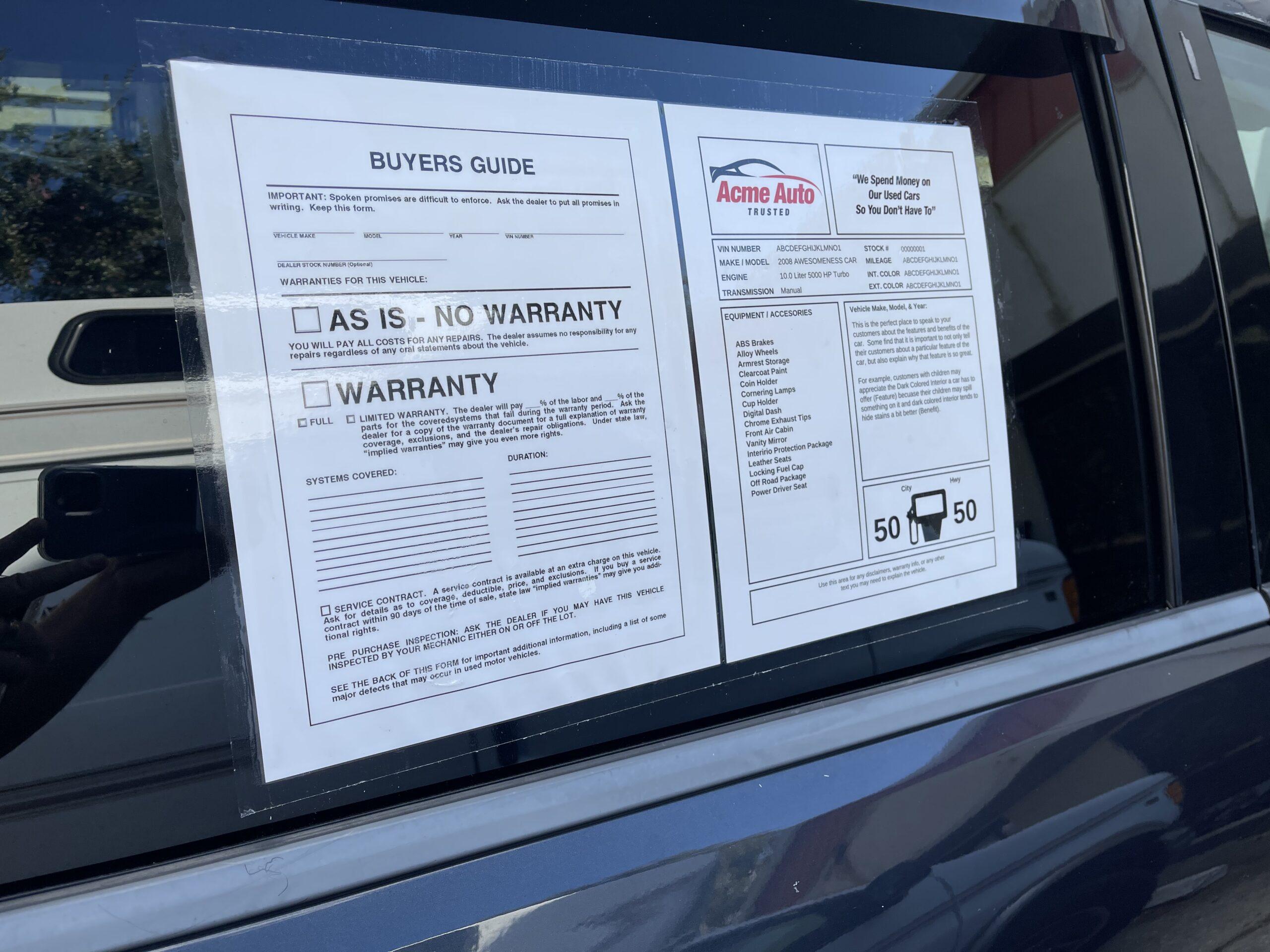 Car Exterior Used Window Sticker Lamination